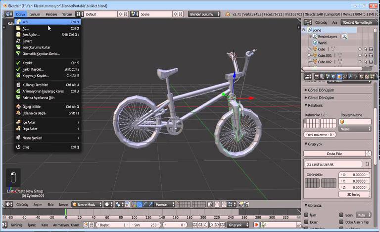 Дизайн и анимация в программе Blender